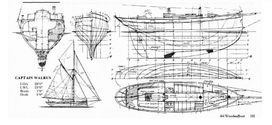 William garden cutter captain walrus for William garden boat designs